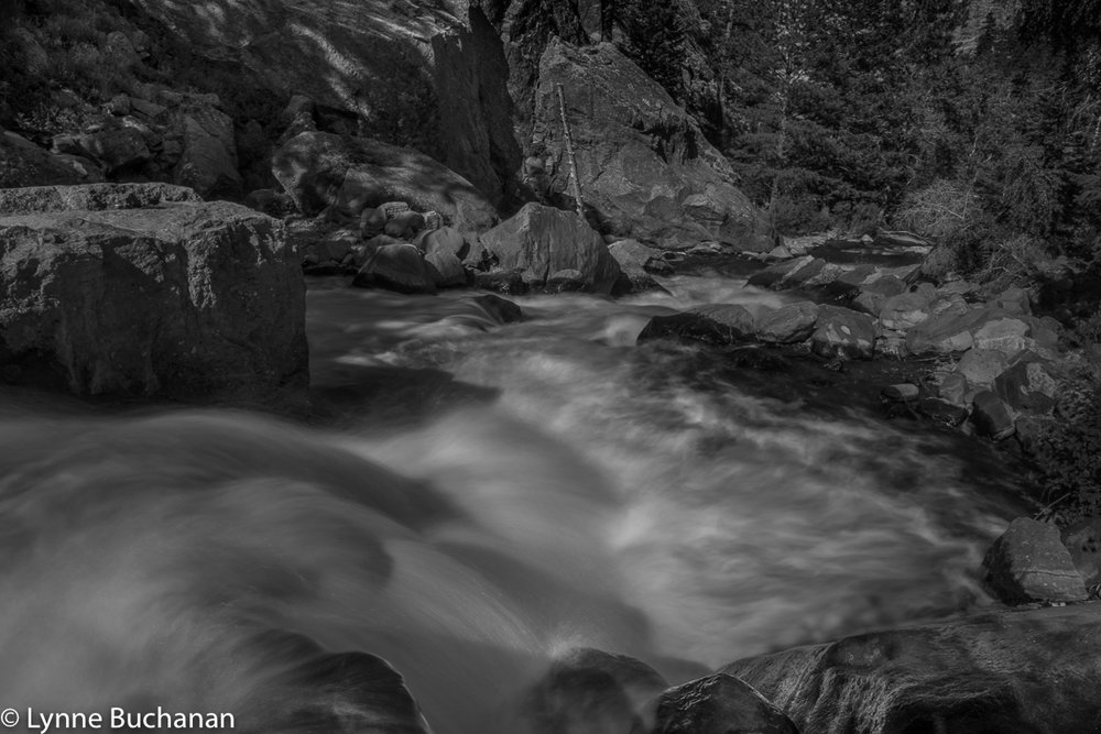 Eldorado Canyon Boulder Creek's Mystical Waters in Dappled Light Multi Layer Processing