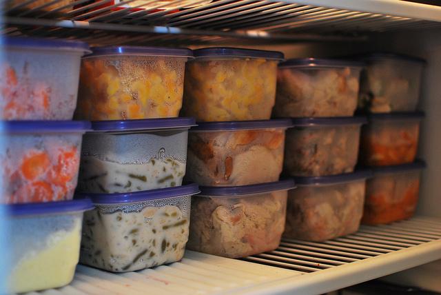 freezer food stock