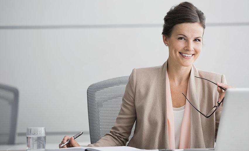 happy career woman