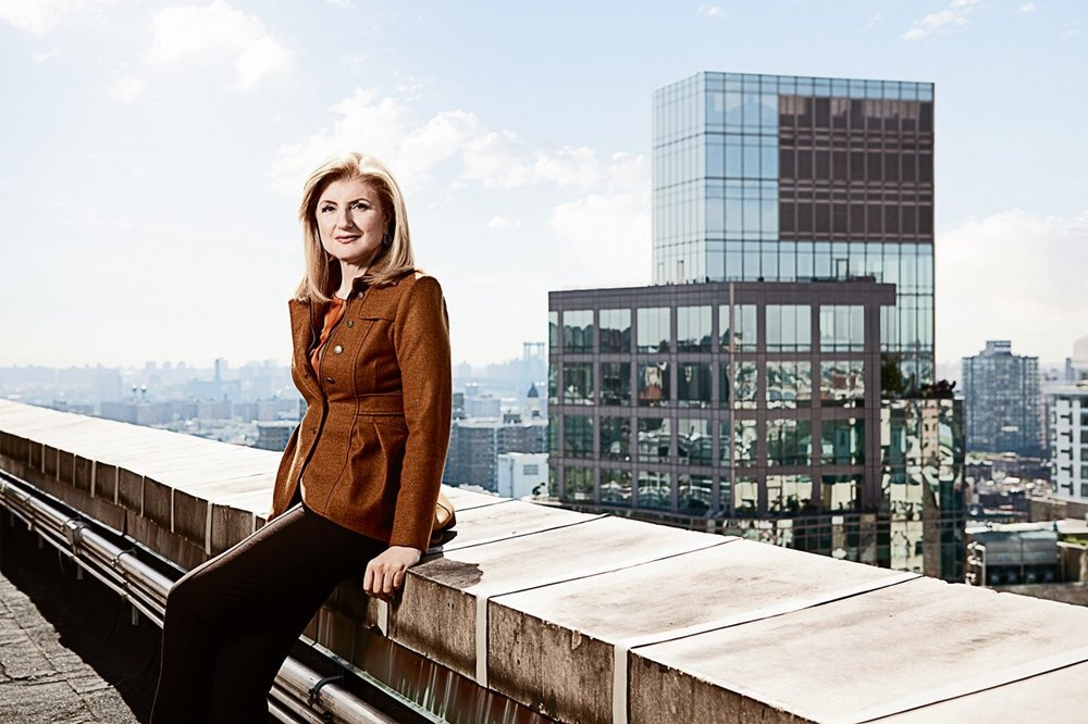 successful woman rooftop building