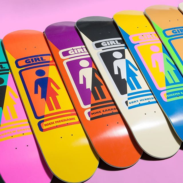 Back to the grind, happy Tuesday everyone! My color-ups for the new '93 Til Infiniti series I did while I was still at @girlskateboards hit shops a couple weeks back. They look cool in the photos but it's hard to do justice to the neons and metallics compared to what they look like in person. If ya see em in your local skate shop, give them a look and hurt your eyeballs on behalf of my weirdness! Happy Tuesday everyone, hope you all had a killer extended weekend!