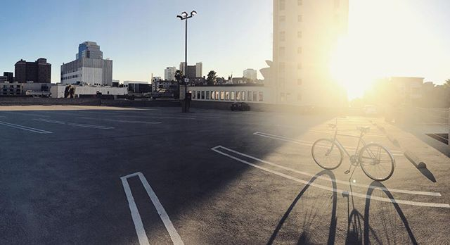 I took this snap this past Friday after my last day of work at the historic Farmers & Merchants Bank building in downtown Long Beach. My job was rad, I could make my own schedule and for the first time in my life I could ride my bike to and from work in about 10 minutes along the beach. The contemplation to give this up was extremely difficult, and to me that's an understatement. I lost a bit of sleep and kept getting really cold feet in making the decision to not only pick up and leave this job, but also the city I have so much love for. I'm lying on an air mattress in my new home after my first full day as a resident of Santa Barbara. The last 5 months of life have super unpredictable, confusing, and daunting but ultimately i made decision that I believe will enable me make a great future for myself and the woman I love more than anything ( @samgrad ). It's with a heavy heart that my remaining days with Long Beach are dwindling, as i'm still transitioning for the next couple weeks, but I'm so pumped that I'm sharing a home with my teammate in life and it's 15 minutes away from Rincon. Never thought I'd be saying all this, but life takes you down strange and mysterious pathways when you least expect it. To everyone who has already known about my relocation, thanks for all of your support, love, and positive vibes. It really worked wonders and I truly appreciate you all. Also to all the humans that have been offering to help me move stuff, you are all angels and I may need to take you up on the offers! Anyway, hope everyone is having a killer week so far and happy Tuesday! Sending you all my best vibes!
