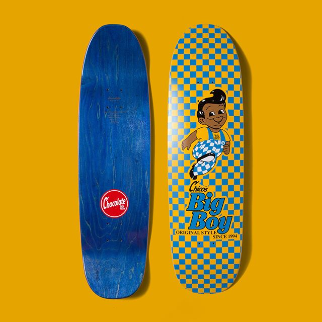 """Designed this one-off for Chico Brenes for his amazing shape the """"Big Boy"""", for @chocolateskateboards A while back. Complete with diner style checkers with the spirit of Nicaragua 🇳🇮, Chico's native origin. The Foy fans out there probably already ripped this one to shreds on SLAP forums but it was fun to put together and everything's already been done, we just do it in different ways. Also comes on a standard popsicle shape for all the rippers out there! Hope everyone's Friday is off to a killer start and cheers to the weekend! Stay well! 🤙🏽"""