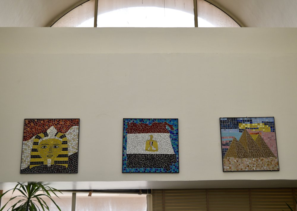 Egypt Themed Mosaic Murals