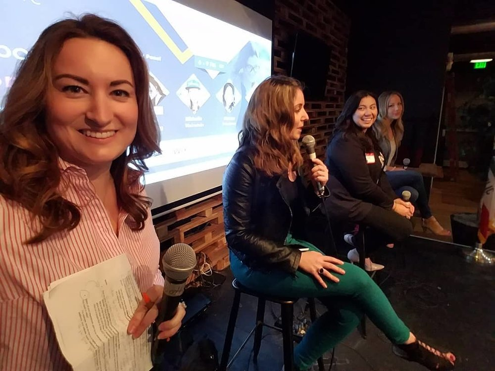 "Hosting the ""Empowered Women in Digital"" panel with The SoCal Marketing Club. March 8, 2018."