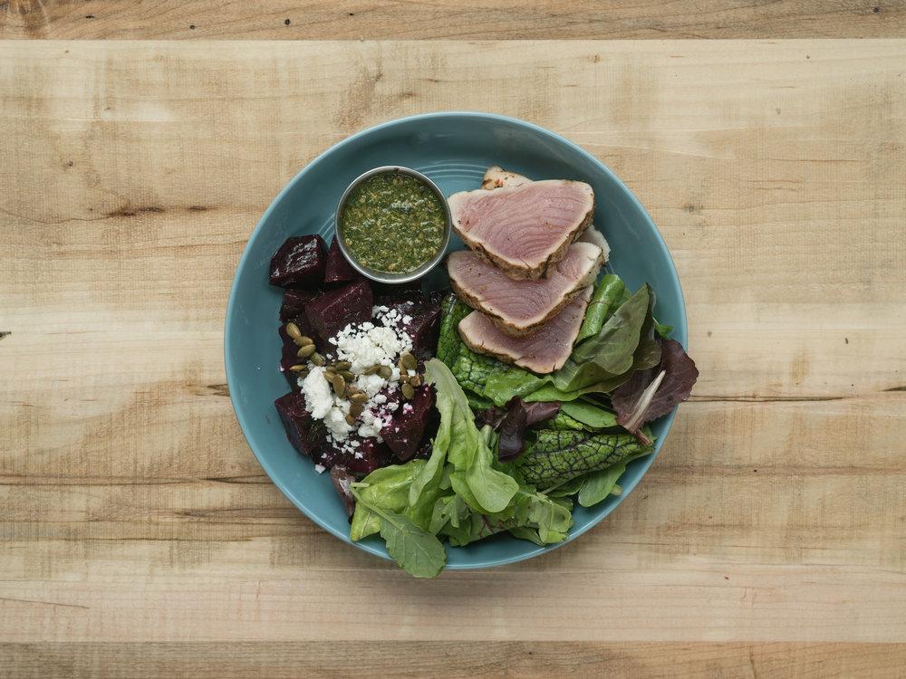 Grilled Rare Albacore Tuna