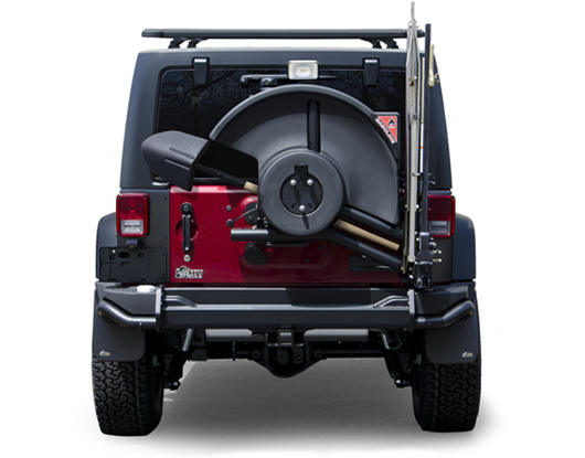 Peden 4 Wheel Drive Jk Rear Bumper Tire Carrier System