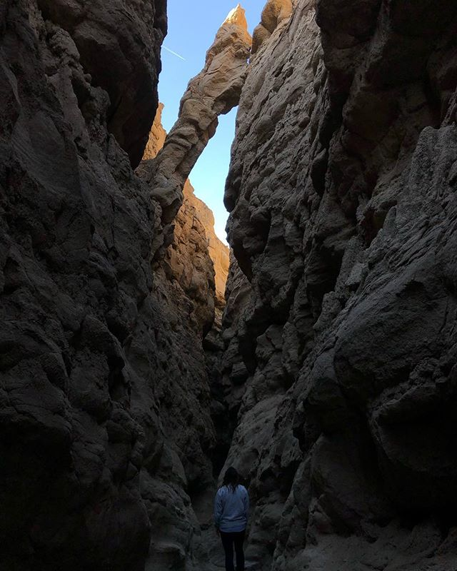 A quick morning hike at the Slot Canyon in Anza Borrego