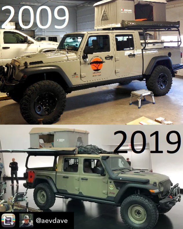 Repost from @aevdave - Instagram 10 year challenge? Thought the Jeep WayOut Gladiator looked somewhat familiar. 🤣