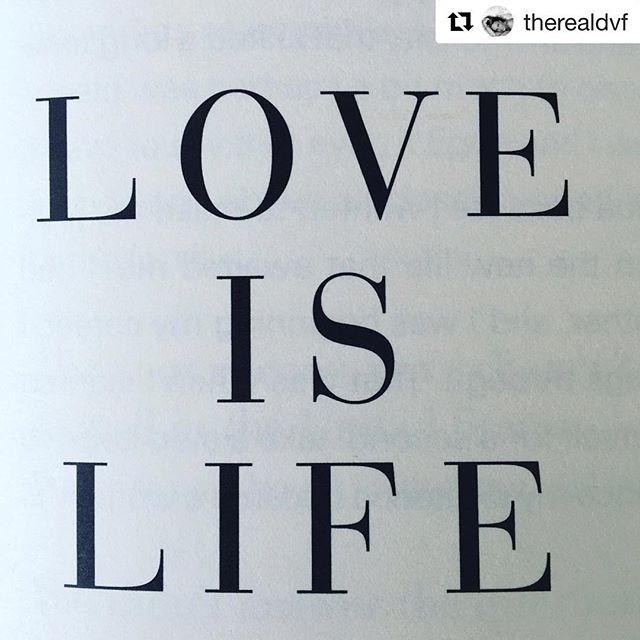 Love is life. Life is love. ❤️❤️❤️ #Repost @therealdvf with @get_repost