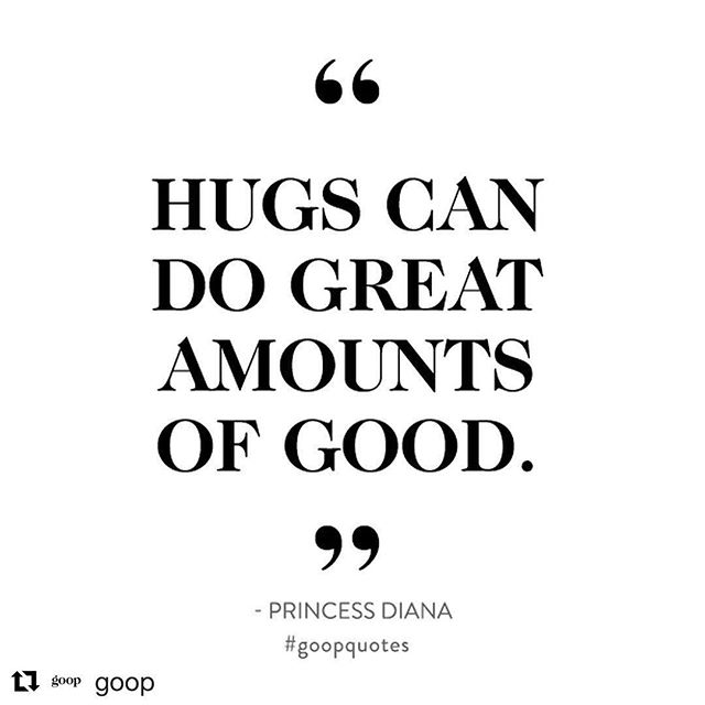 November is National Caregivers Month. I love this reminder that hugs can do great amounts of good for those who we are caring for and those caregiving. #Repost @goop with