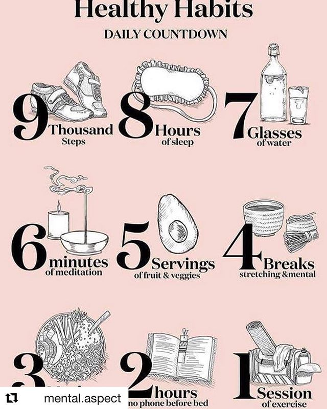 Healthy habits 🙂 Try it for rest of this week. Credit to respective owner 🙏 #Repost @mental.aspect