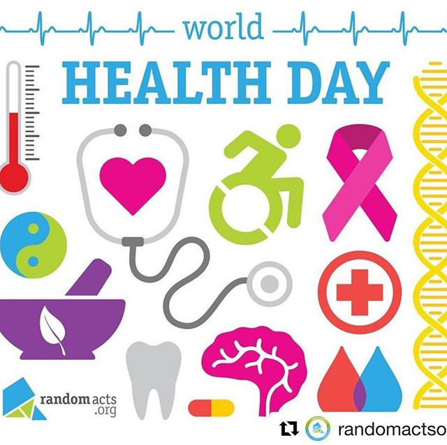 #WorldHealthDay is a day of global awareness to bring focus to a different topic on health each year. Spread awareness about the importance of #HealthFor All. #Repost @randomactsorg