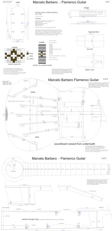 Marcelo barbero flamenco guitar plans ideal for those wishing to build a flamenco guitar perhaps together with the other great flamenco maker santos hernandez whose guitar plans is also malvernweather Choice Image