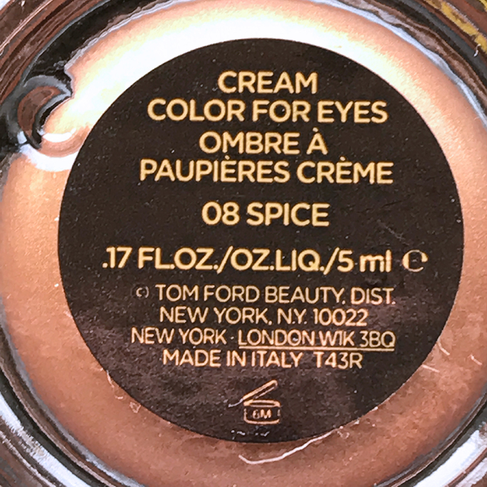 Tom Ford Cream Color For Eyes In 'Spice'