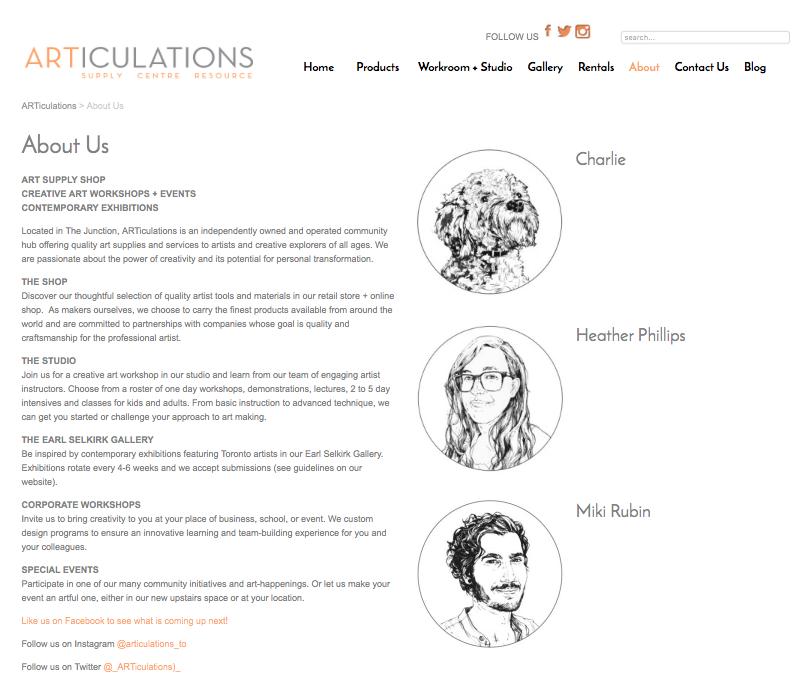 Portrait Illustrations for website store.