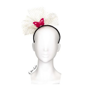 1359bc4c9ffd8 The Human Chameleon - Millinery - SS18 - Kaleidoscope Butterfly Headband  with Veil - Pink (