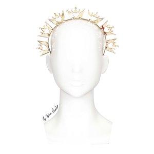 58260fa6b22a6 The Human Chameleon - Millinery - SS18 - Royal Crown Halo Headband - Gold  Mirror -