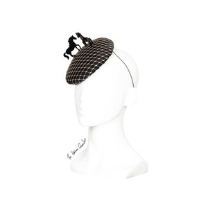 43b9b294f503f The Human Chameleon - Millinery - SS18 - Pony Parade Horse Beret with  Veiling - Black