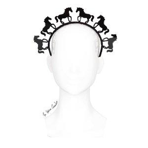 7b6ef27c5cdac The Human Chameleon - Millinery - SS18 - Pony Parade Horse Halo Headband -  Black (