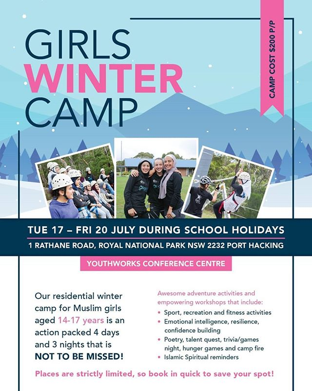 FINALLY HERE!!! 👐👐 2018 GO ACTIVE WINTER CAMP!  17th-20th JULY  To register email: goactive@lma.org.au  Limited spots available  Be quick and don't miss out
