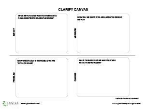 Clarify Canvas -