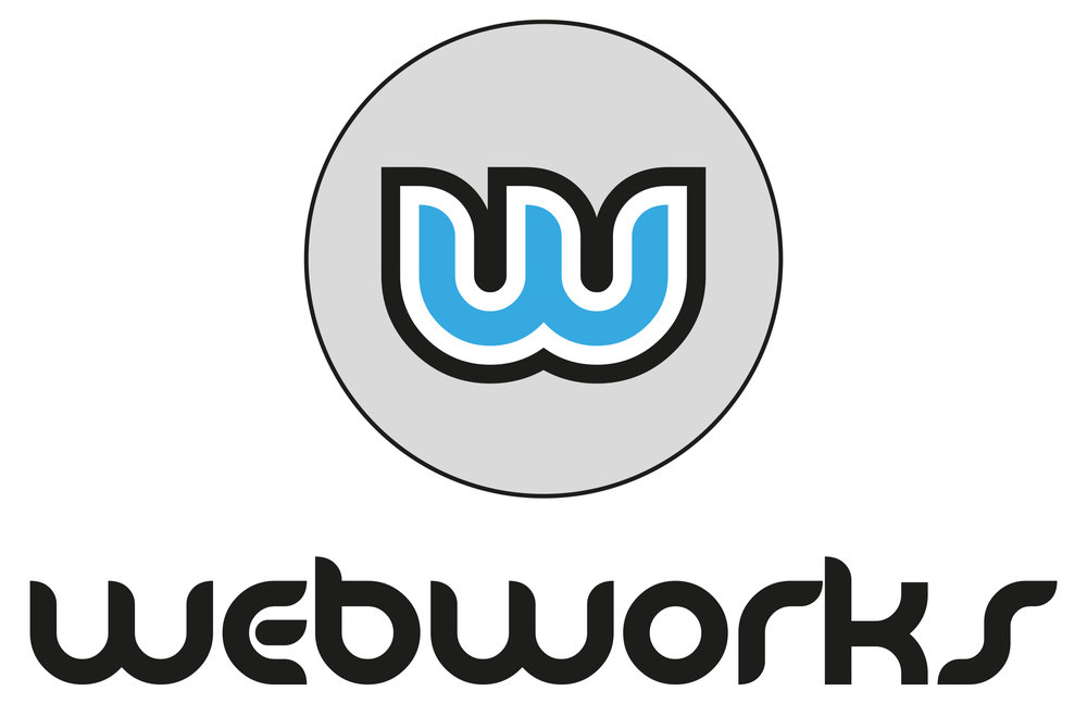 Webworks brand logo corporate identity design gloucestershire