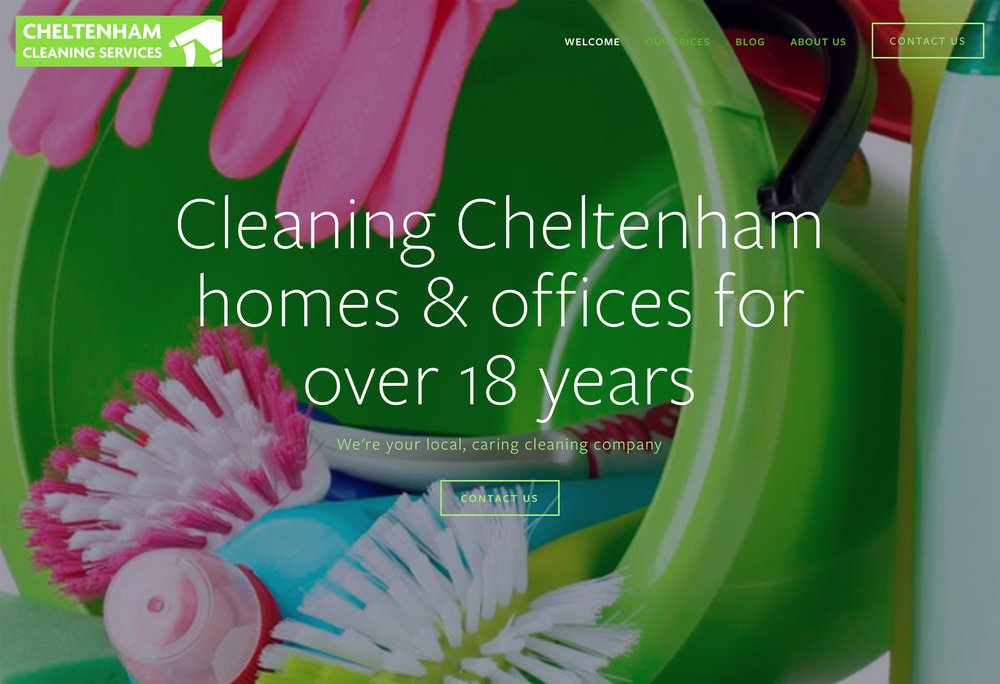 cheltenham cleaning services squarespace website design cheltenham gloucestershire mobile friendly