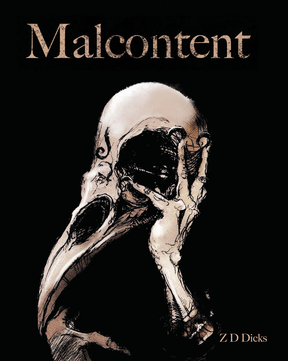 Malcontent Book Cover Design