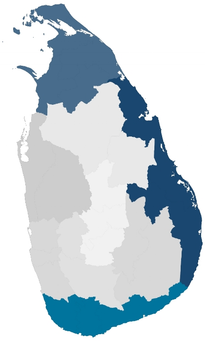Surveyed Provinces in Sri Lanka