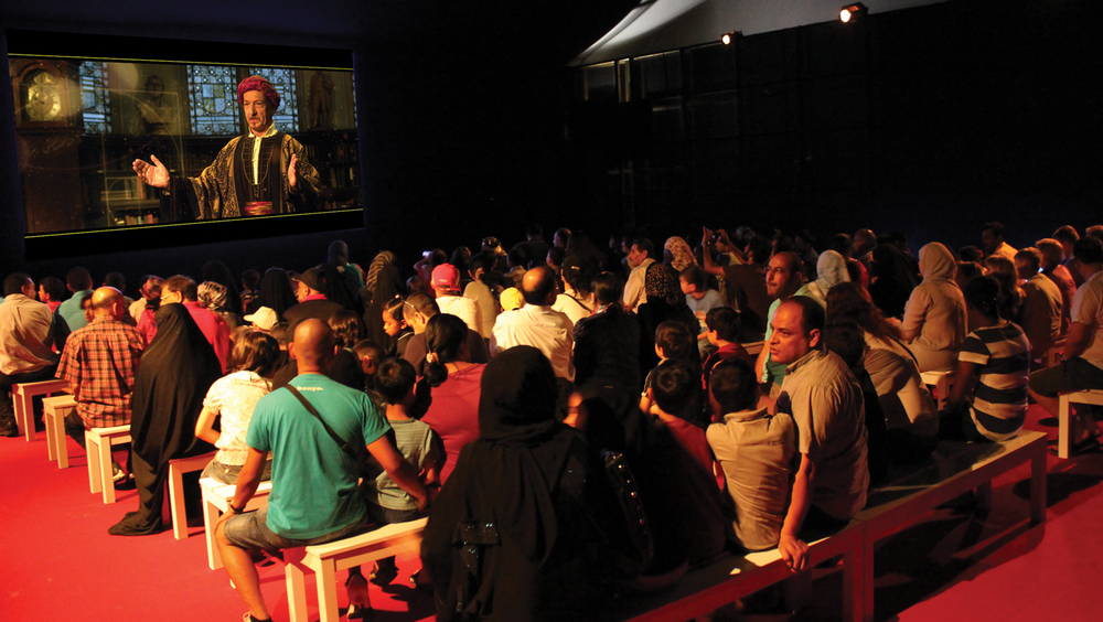 10,000 lumen projector in the main theatre.  1001 Inventions – Abu Dhabi