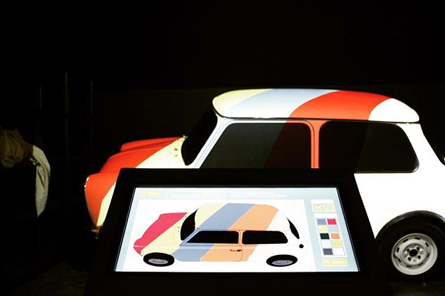 Paint a real car using just a touch screen computer at @haynesmuseum . AV by Atlas AV #avtweeps #av