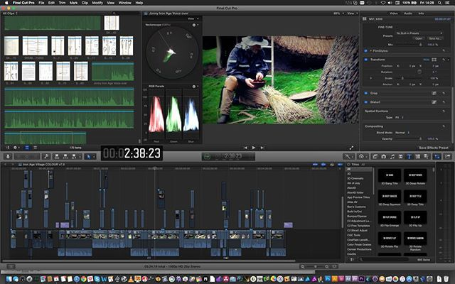 Sneak peek at our latest film project in the edit #FCPX #filmmaker #filmmaking #ironage #museums #museum