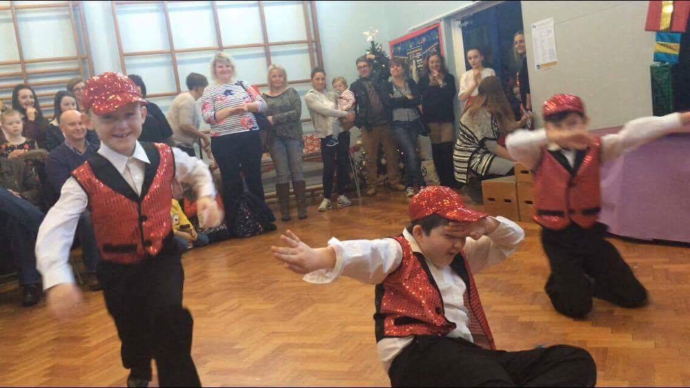 Dancing at the Christmas Fair