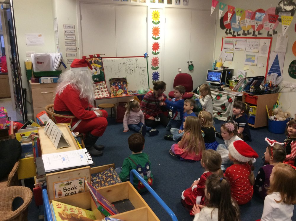 Santa comes to EYFS