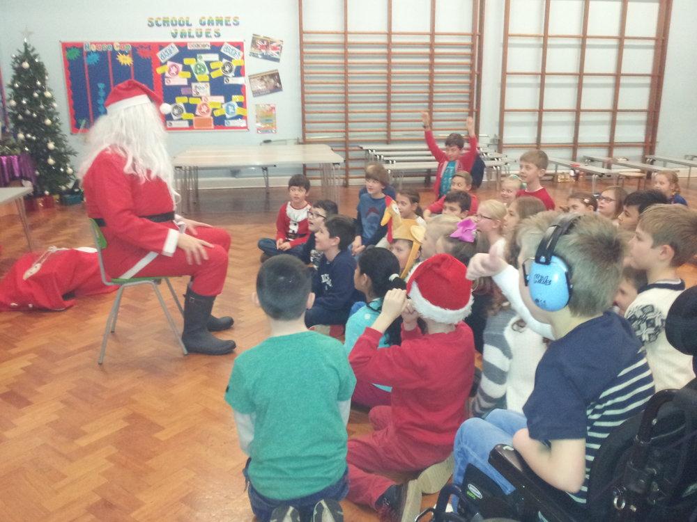 Santa visits Year 4