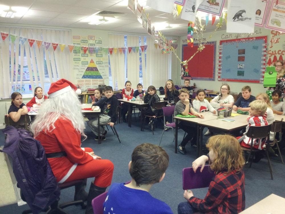 Santa visits Year 5