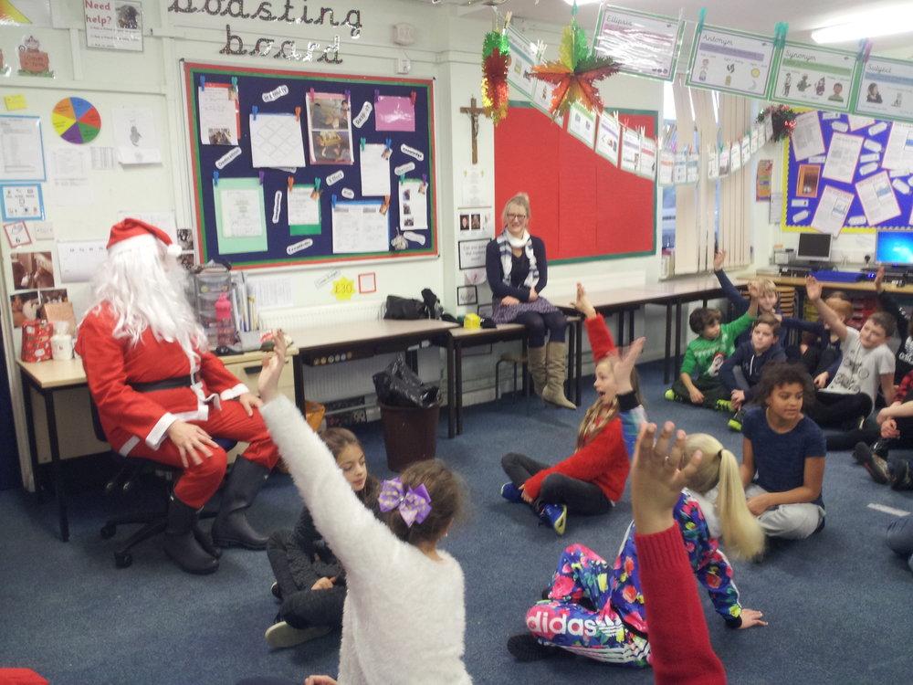Santa visits Year 6