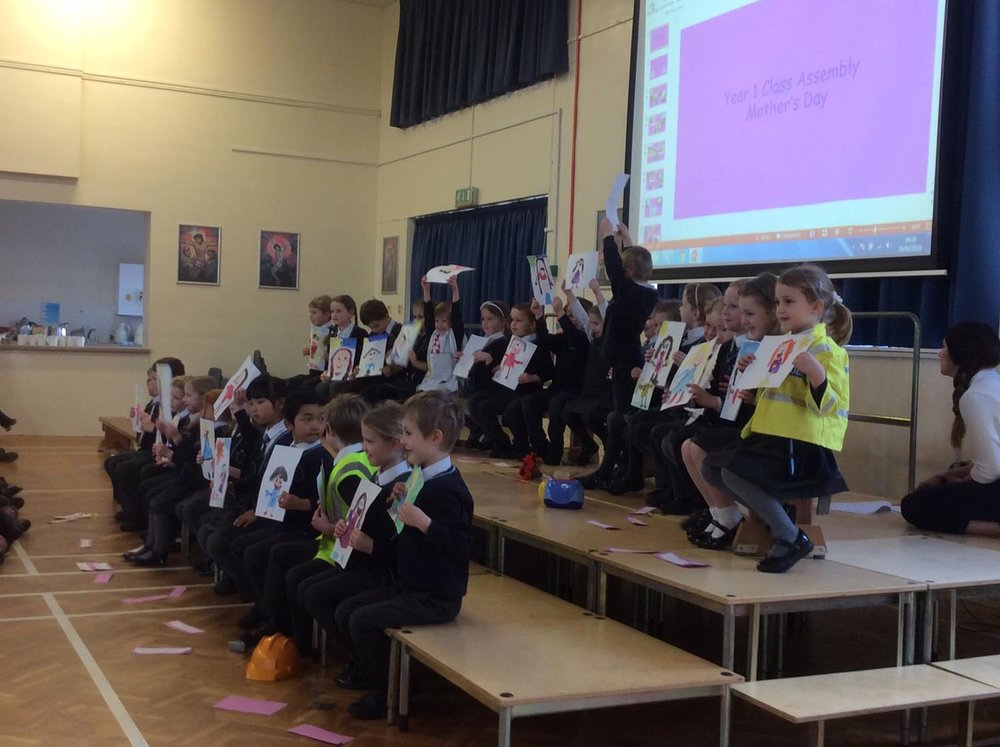 Photo: St. Mary's Horsforth Year 1 gave a Year 1 gave a fantastic Mother's Day assembly.