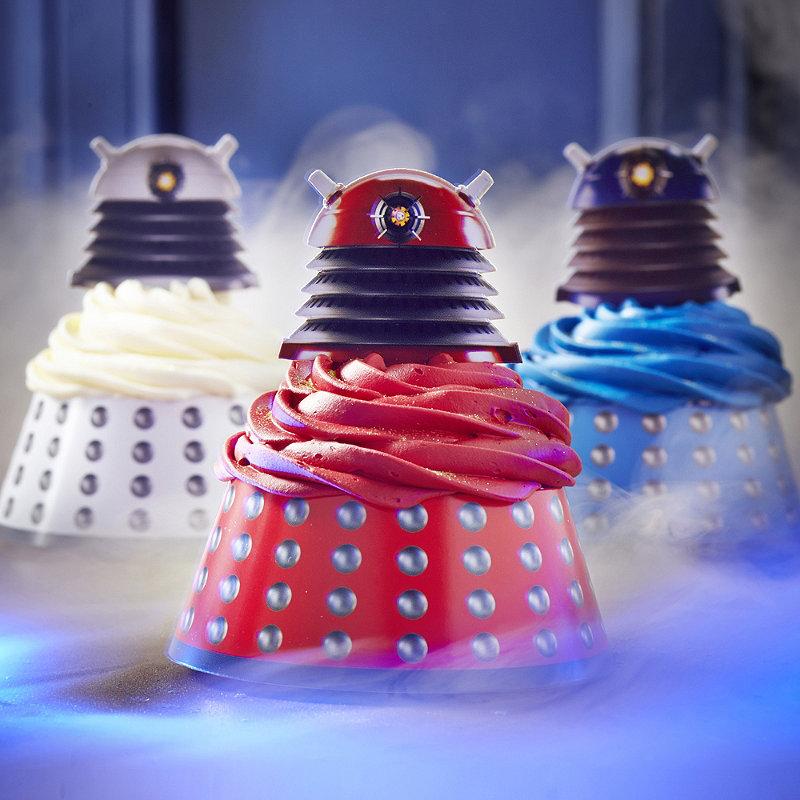 Dalek Cupcake toppers