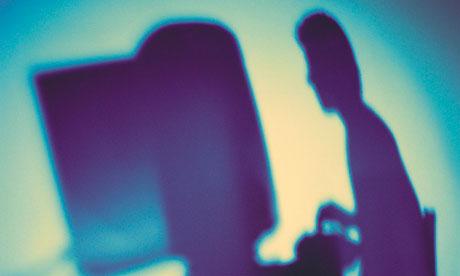 Writer's silhouette