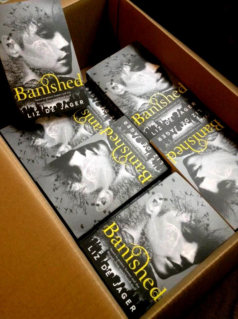 Banished finished copies by Liz de Jager