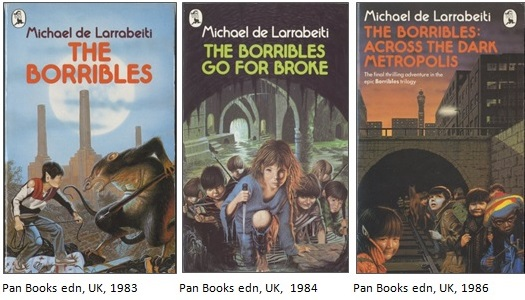 Borribles covers - Pan editions