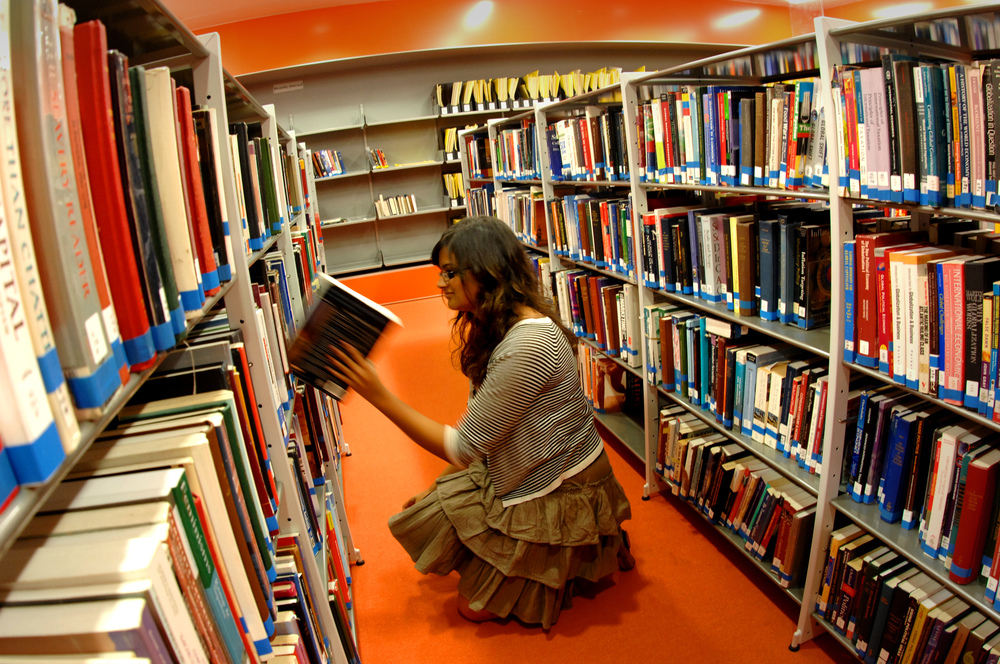 Choosing book from library