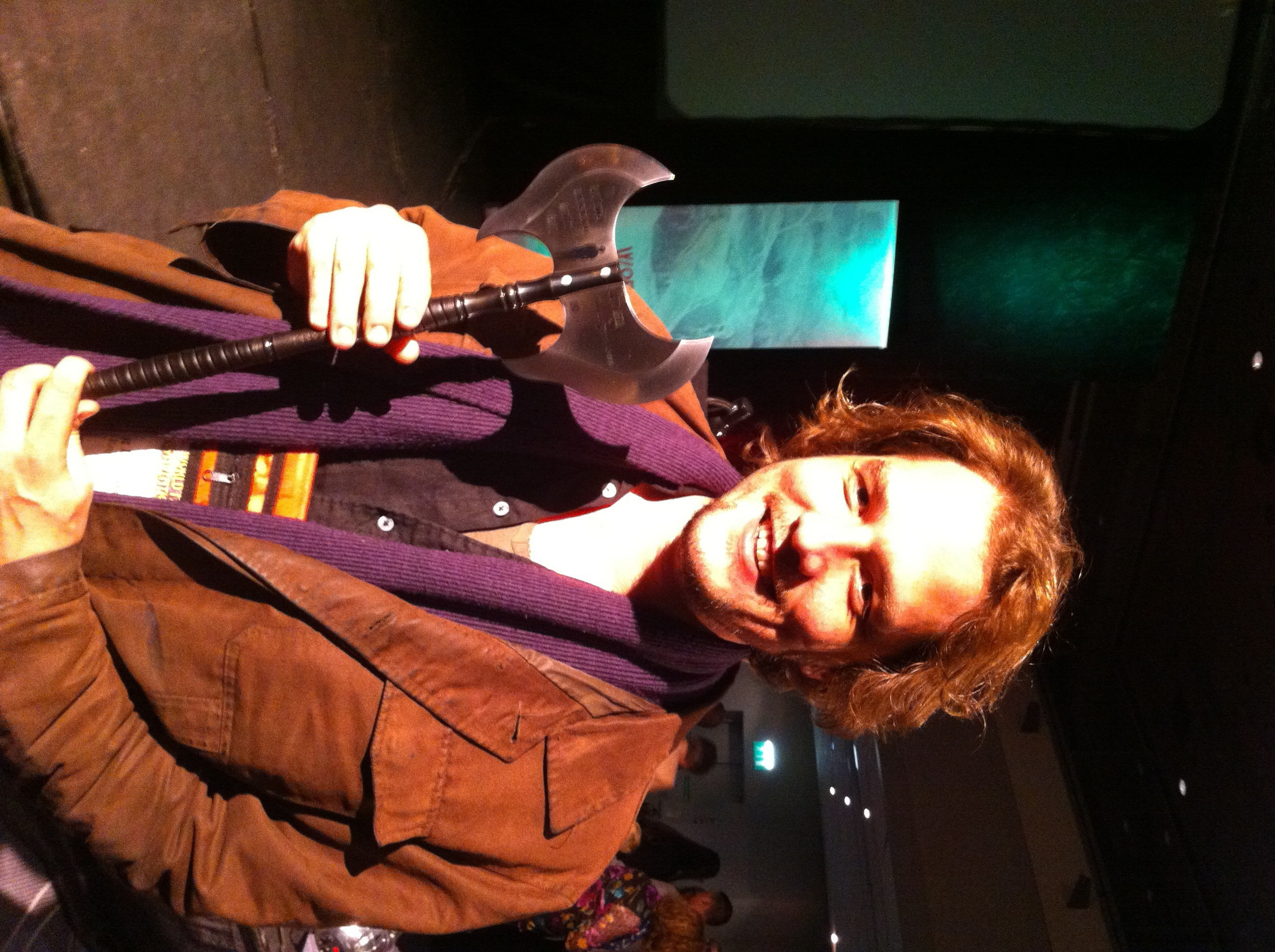 Me at Gemmell Awards holding Brent Weeks' award!