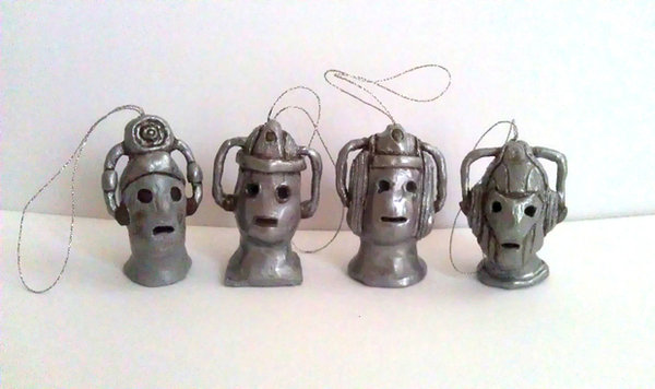 Doctor Who Cybermen decoration by Solarshine