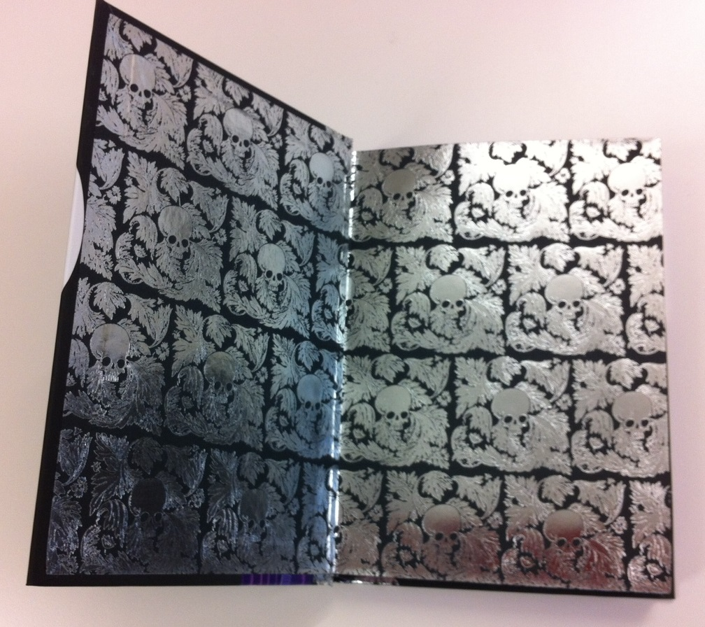 Goth Girl - foil end-papers