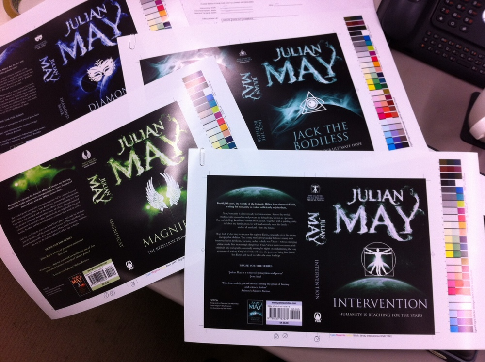 Julian May Galactic Milieu series - sherpa proofs of covers