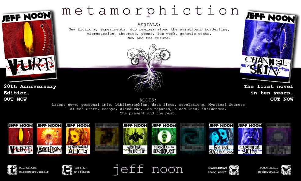 Metamorphiction website that Curtis designed for Jeff Noon