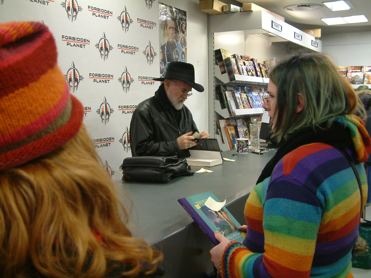 Terry Pratchett book signing